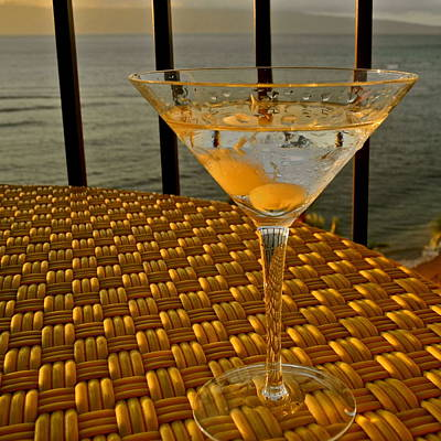 Sunset Martini In Maui I Art Print by Kirsten Giving