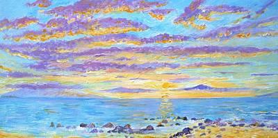 Sunset Maui Art Print by Tamara Tavernier
