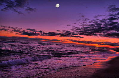 Photograph - Sunset Moon Rises by Emily Stauring