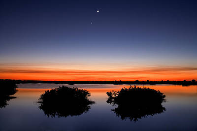 Photograph - Sunset Moon Venus by Rich Franco