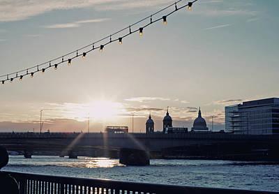 Double Decker Photograph - Sunset by Nichola Sarah
