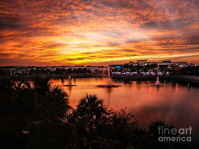 Photograph - Sunset Oct 2011 Palm Beach Gardens Fl by Ginette Callaway