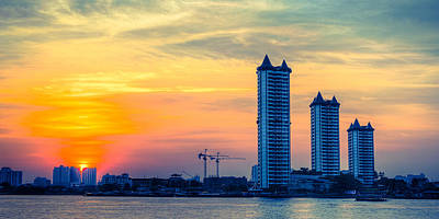 Y120831 Photograph - Sunset Of River by Puneboyz