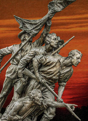 Sunset Of The Confederacy Pickett's Charge Art Print by Randy Steele