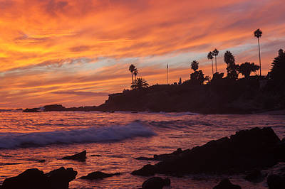 Sunset Off Laguna Beach Art Print