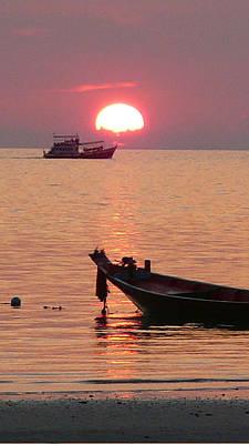 Photograph - sunset off Thailand coast by Jack Adams