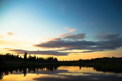 Sunset On A Lake Art Print