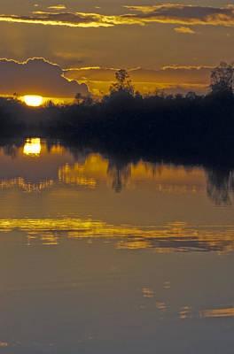 Sunset On A Lake Art Print by Patrick Kessler