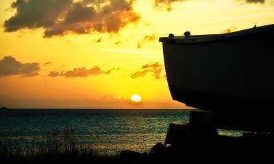 Photograph - Sunset On Boat by Daniel Marcion