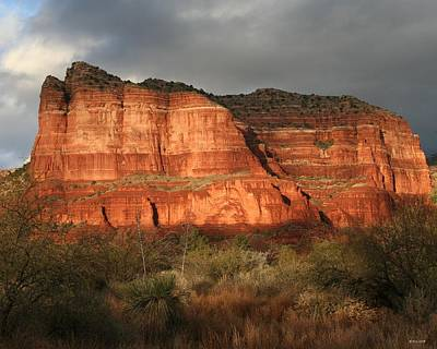 Sunset On Courthouse Butte Art Print by Jimmy Fox