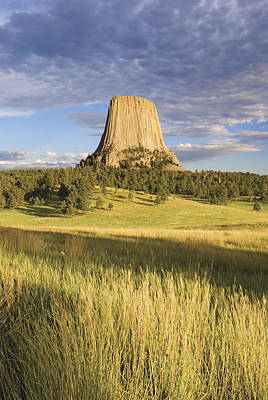 Sunset On Devils Tower Wyoming United Print by Philippe Widling