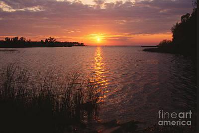 Habor Photograph - Sunset On Eagle Harbor by Sandra Bronstein