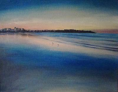 Painting - Sunset On Hampton Beach by Mark Haley