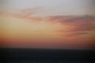 Sunset On Horizon Horizontal At Big Sur Art Print by Christina Weber