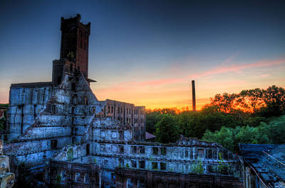 Sunset On Hotel Urbex Art Print by Nathan Wright