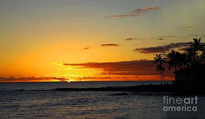 Yellow Trees Photograph - Sunset On Kauai by Dana Kern