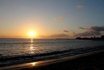 Photograph - Sunset On Leeward Side Oahu by Elizabeth  Doran