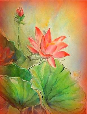 Painting - Sunset On Lotus by Wendy Wiese