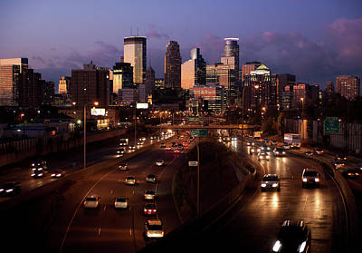Photograph - Sunset On Minneapolis by Chris Coward