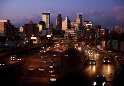 Sunset On Minneapolis Art Print