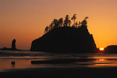 Sunset On Second Beach Art Print by Phil Schermeister