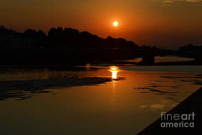Photograph - Sunset On The Arno River by Kathleen Pio