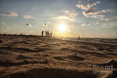 Beach Photograph - Sunset On The Beach by Christopher Purcell