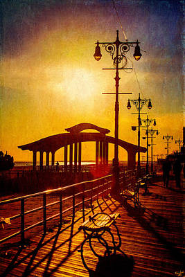 Photograph - Sunset On The Boardwalk by Chris Lord