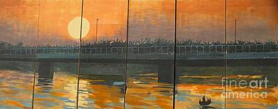 Sunset On The Canals Art Print by Unknown - Local Iraqi National