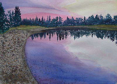 Painting - Sunset On The Chena - II by Joel Deutsch