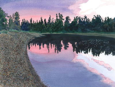 Painting - Sunset On The Chena  by Joel Deutsch