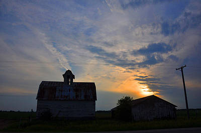 Sunset On The Farm Art Print by Daniel Ness
