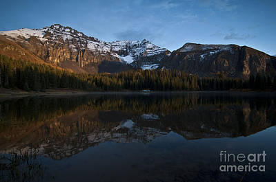 Reflected Photograph - Sunset On The Mountains by Jeffrey Kolker