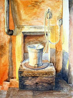 Painting - Sunset On The Old Well  by Eleonora Perlic