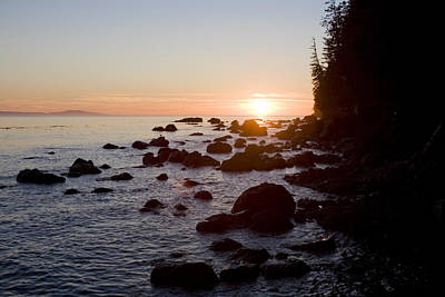 Sunset On The Pacific Northwest Coast Art Print by Taylor S. Kennedy