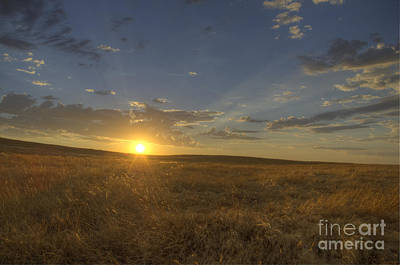 Photograph - Sunset On The Prairie by Jim And Emily Bush