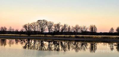Susan Jones Photograph - Sunset On The River by Susan Jones