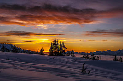 British Columbia Photograph - Sunset On The Tantalus by Ian Stotesbury