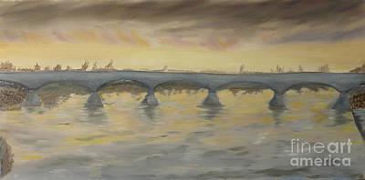 Sunset On The Ticino - Homage To Turner Print by Nicla Rossini