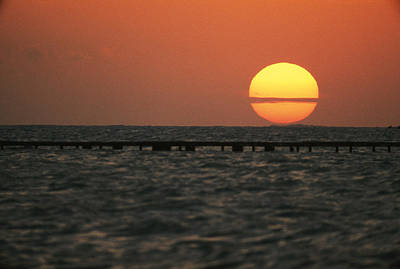 Etc. Photograph - Sunset On The Water At Key West by Bill Curtsinger