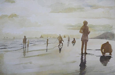 sunset on Vung Tau beach Art Print by Vuong Anh Tuan