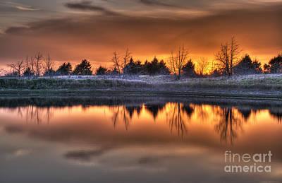 Sunset Over Bryzn Art Print