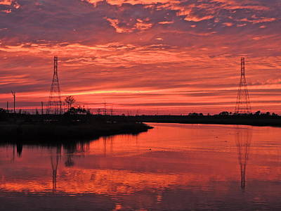Photograph - Sunset Over Cape Fear River by Eve Spring