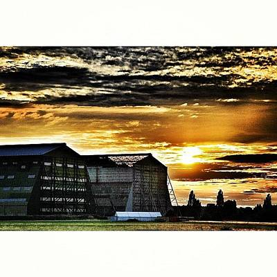 Nature_shooters Photograph - Sunset Over Cardington Hangers by Chris Barber