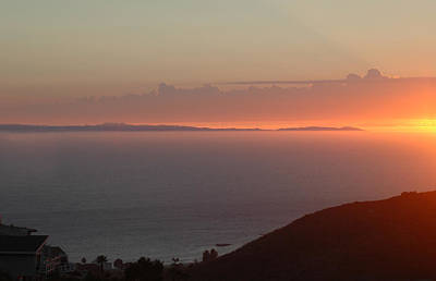 Mixed Media - Sunset Over Catalina by Russell Pierce