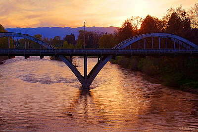 Photograph - Sunset Over Caveman Bridge by Mick Anderson