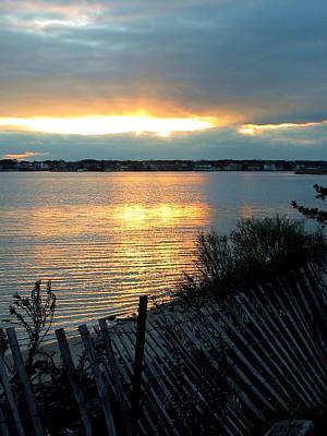Painting - Sunset Over Cedar Creek by Clara Sue Beym