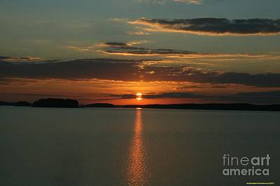 Clarks Hill Lake Photograph - Sunset Over Clarks Hill Lake by Sherrie Winstead