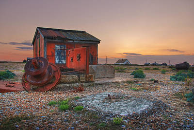 Shed Digital Art - Sunset Over Dungeness by Lee-Anne Rafferty-Evans