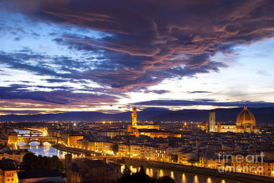 Sunset Over Florence Art Print by Brian Jannsen